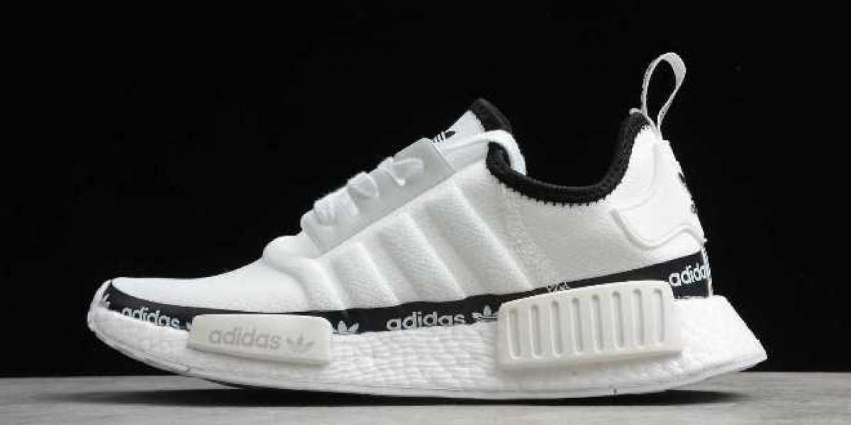 "2020 New adidas NMD_R1 ""White Tape Logo"" FV7306 Shoes"